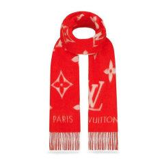 【情人节礼物】Louis Vuitton/路易威登 女士粉红色经典时尚羊毛保暖围巾围脖 多色可选图片