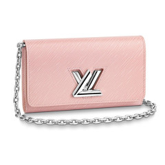 Louis Vuitton/路易威登包包 女士链条包 LV女包钱包纽扣斜挎包卡包  M62038图片