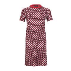 MaxMara/麦丝玛拉 19秋冬 粘纤格纹点点装饰时尚修身长款圆领针织衫T恤女士连衣裙图片