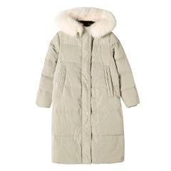 YAWANG CHEN/YAWANG CHEN女装>女士外套>女士羽绒服优雅气质大毛领羽绒服图片