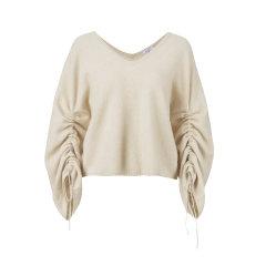 ARETE/ARETEV领羊绒袖子抽绳宽松针织上衣+半裙女士其他套装图片