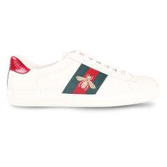GUCCI/古驰男士休闲运动鞋板鞋 白色蜜蜂刺绣红绿标带休闲小白鞋 429446 A38G0图片