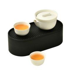 pertouch/泊喜 小泡蛋P1快时尚整套功夫茶具套装旅行日式简约便携式一壶两杯图片