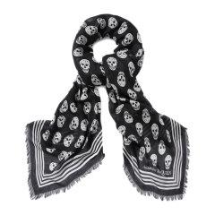 Alexander McQueen/亚历山大麦昆 女士花色机车骷髅头围巾丝巾 590934-3418Q 多色可选图片