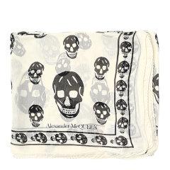 Alexander McQueen/亚历山大麦昆 女士个性骷髅头印花真丝围巾丝巾 557717-4Q060 多色可选图片