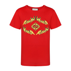 GUCCI/古驰纯棉字母印花圆领短袖T恤图片