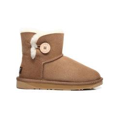 【澳洲直邮】Everugg 迷你单扣羊皮毛一体迷你短靴 木扣短筒雪地靴女鞋 11702图片