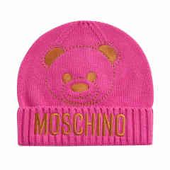 MOSCHINO KIDS/MOSCHINO KIDS  男女童混纺刺绣小熊图案针织帽图片