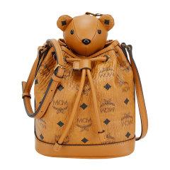 MCM【20春夏新款】女士经典logo印花可爱小熊抽绳水桶包单肩包斜挎包女包 MYZ8AXL47多色可选图片