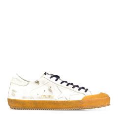 GOLDEN GOOSE DELUXE BRAND GGDB 男士白色皮革时尚星星图案超级明星休闲运动鞋小脏鞋小白鞋男鞋 G35MS590 多色可选图片