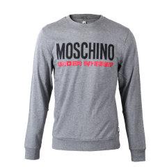 MOSCHINO/莫斯奇诺徽标印花运动衫男士长袖T恤A18048127【现货】图片