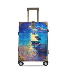 LIEMOCH/利马赫 明星同款 爱勒系列智能拉杆箱24寸铝镁合金旅行箱中性款式行李箱香槟色适用人群:青年图片