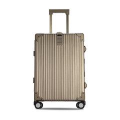 LIEMOCH/利马赫爱勒系列智能拉杆箱24寸铝镁合金旅行箱中性款式行李箱香槟色适用人群:青年图片