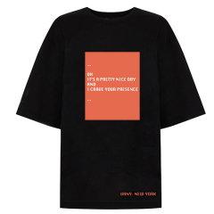 VHNY/VHNY全棉简约宽松白色/黑色女士短袖T恤男士短袖T恤情侣短袖T恤vhny909t图片