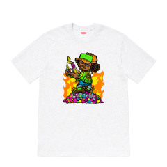 Supreme 19SS Molotov Kid Tee 燃烧瓶 漫画 小孩 短袖 T恤图片