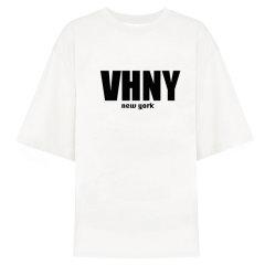 VHNY/VHNY全棉简约宽松白色/黑色女士短袖T恤男士短袖T恤情侣短袖T恤vhny901t图片
