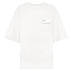 VHNY/VHNY全棉简约宽松白色/黑色女士短袖T恤男士短袖T恤情侣短袖T恤vhny903t图片
