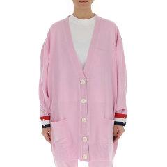 Thom Browne/Thom Browne 20春夏 女装 服饰 羊毛宽松长款V领女士针织衫毛衣图片