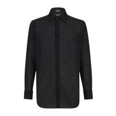 FENDI/芬迪 20春夏 男装 服装 黑色棉质 男士长袖衬衫图片