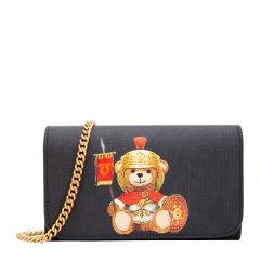 MOSCHINO/莫斯奇诺 20新款 女士时尚聚氨酯纤维罗马泰迪熊印花迷你单肩包斜挎包链条包女包 7A8127-8210多色可选图片