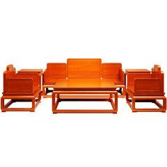 滑氏红木 红木家具缅甸花梨(学名:大果紫檀)客厅餐厅14件套实木沙发组合茶几电视柜餐桌餐椅 沙发六件套+电视柜1件套+餐厅7件套图片