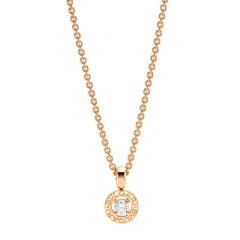 BVLGARI/宝格丽  女士玫瑰金色18K金字母logo镶钻时尚项链 CL853337 CL853447图片