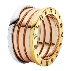 BVLGARI/宝格丽 B.ZERO1系列 男女同款玫瑰拼18k金指环经典logo款四环戒指 AN857650图片