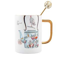 TALES/神话言 鼠来保-马克杯-丝布礼盒 (杯缘及手把均为24K手工描金)图片