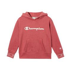 19秋冬Champion/Champion男女童混纺加绒连帽套头衫经典logo图案DX图片