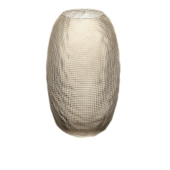 意大利IVV进口手工玻璃花瓶透明水晶插花瓶客厅玄关摆件饰品钻石图片