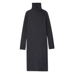 EXCEPTION/例外 原创设计秋冬羊毛绕脖裹领针织连衣裙-女士连衣裙图片
