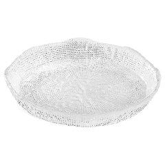意大利IVV进口手工玻璃托盘茶盘透明水晶客厅玄关摆件饰品钻石图片