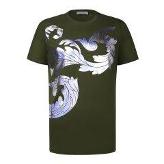 VERSACE COLLECTION 范思哲 男士棉质印花短袖T恤衫V800683R VJ00566 V7001图片