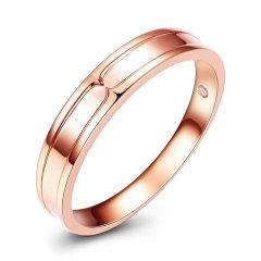GZUAN/古钻 轨迹 18K金钻石情侣戒指男女士订婚 结婚戒指 DJ3091图片