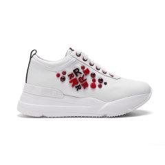 Ruco Line/Ruco Line 秋冬 牛皮革厚底增高女士休闲运动板鞋图片