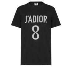 【包邮包税】DIOR/迪奥  20春夏女士新款J'ADIOR 8棉麻印花短袖T恤 两色可选 843T03TC428_X9000图片