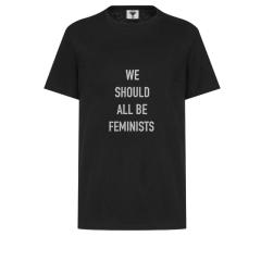【包邮包税】DIOR/迪奥  20春夏女士新款棉麻印花女权主义短袖T恤 两色可选 843T03TA428_X9000图片
