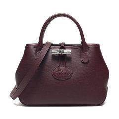 Longchamp/珑骧女包 ROSEAU系列 女士奔马标小牛皮插扣单肩手提包 1016871图片