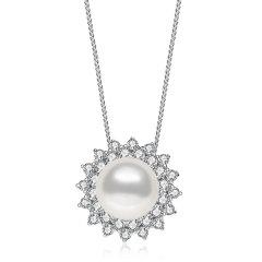 CLORIS/克劳瑞斯【新品】 女神款项链&耳钉&戒指套装 S925天然白色珍珠  送给爱人礼物图片