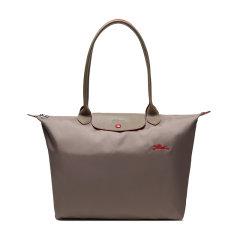 Longchamp/珑骧 女士孕妇,情侣LE PLIAGE系列尼龙织物/配皮长柄可折叠手提单肩包1899刺绣图片