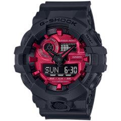 卡西欧(Casio)小猪同款G-shock血鹤屏红黑系列运动手表男GA-700AR-1/GW-B5600AR-1A/GA-140图片