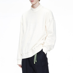 MOCO男装品牌COMMONGENDER/COMMONGENDER2019秋冬新品简约半高领印花套头男卫衣CAI3SWS009图片