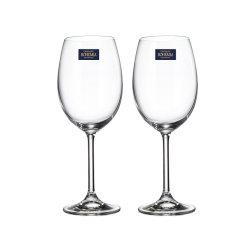 捷克进口 红酒杯 无铅水晶玻璃高脚杯 葡萄酒杯 波尔多 勃艮第 家用酒具 礼盒2只套装 送礼图片