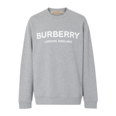 Burberry/博柏利 19秋冬 男士棉质LOGO标识长袖运动衫T恤卫衣图片