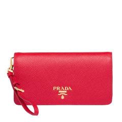 PRADA/普拉达 女士Prada Saffiano皮革带链条手拿包 1DH029_QWA图片