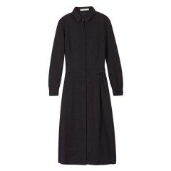 EXCEPTION/例外 原创设计秋冬翻领修身百搭羊毛长款连衣裙-女士连衣裙图片