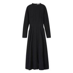 EXCEPTION/例外 原创设计秋冬羊毛小立领A型裙长款连衣裙-女士连衣裙图片