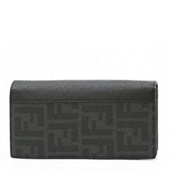 【包税】Fendi/芬迪   男士pvc配皮经典双FF印花logo长款钱包图片