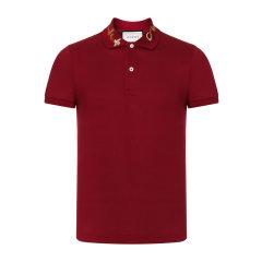 GUCCI/古驰 gucci男性服装 纯色商务休闲翻领男士短POLO衫/T恤 408323X7332图片