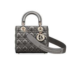 【包邮包税】DIOR/迪奥 经典款Lady Dior勋章款 女士小牛皮单肩手提包 (2色可选)  M0538OWEC_M20G图片